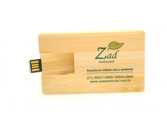 PEN DRIVE BAMBÚ CARD